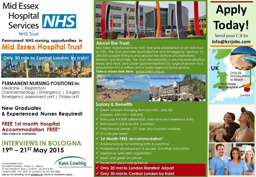 London Mid Essex Hospital NHS Trust Flyer - May 2015
