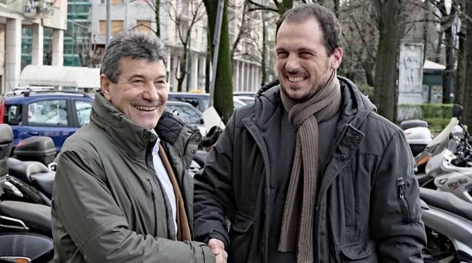 L'incontro tra Lorenzo e Mario, organizzato dal quotidiano La Nazione.