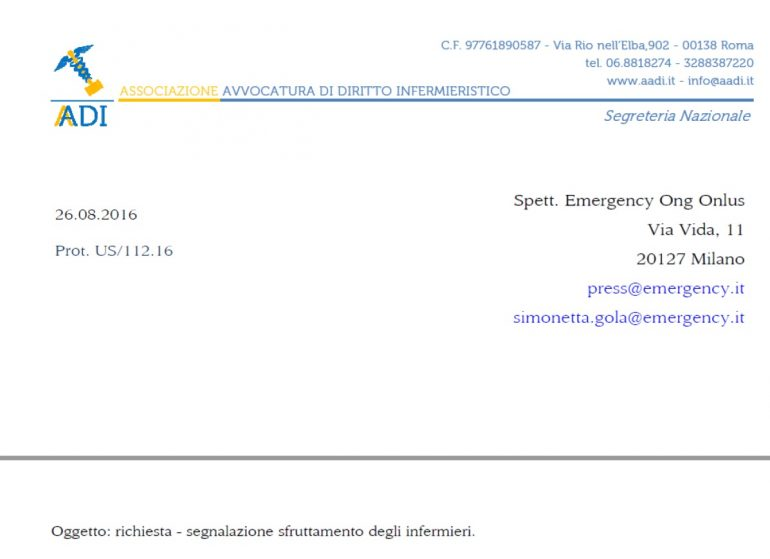 """Il presidente AADI risponde al coordinatore di Emergency """"III atto"""""""