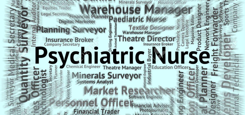 Psychiatric Nurse Showing Nervous Breakdown And Hire