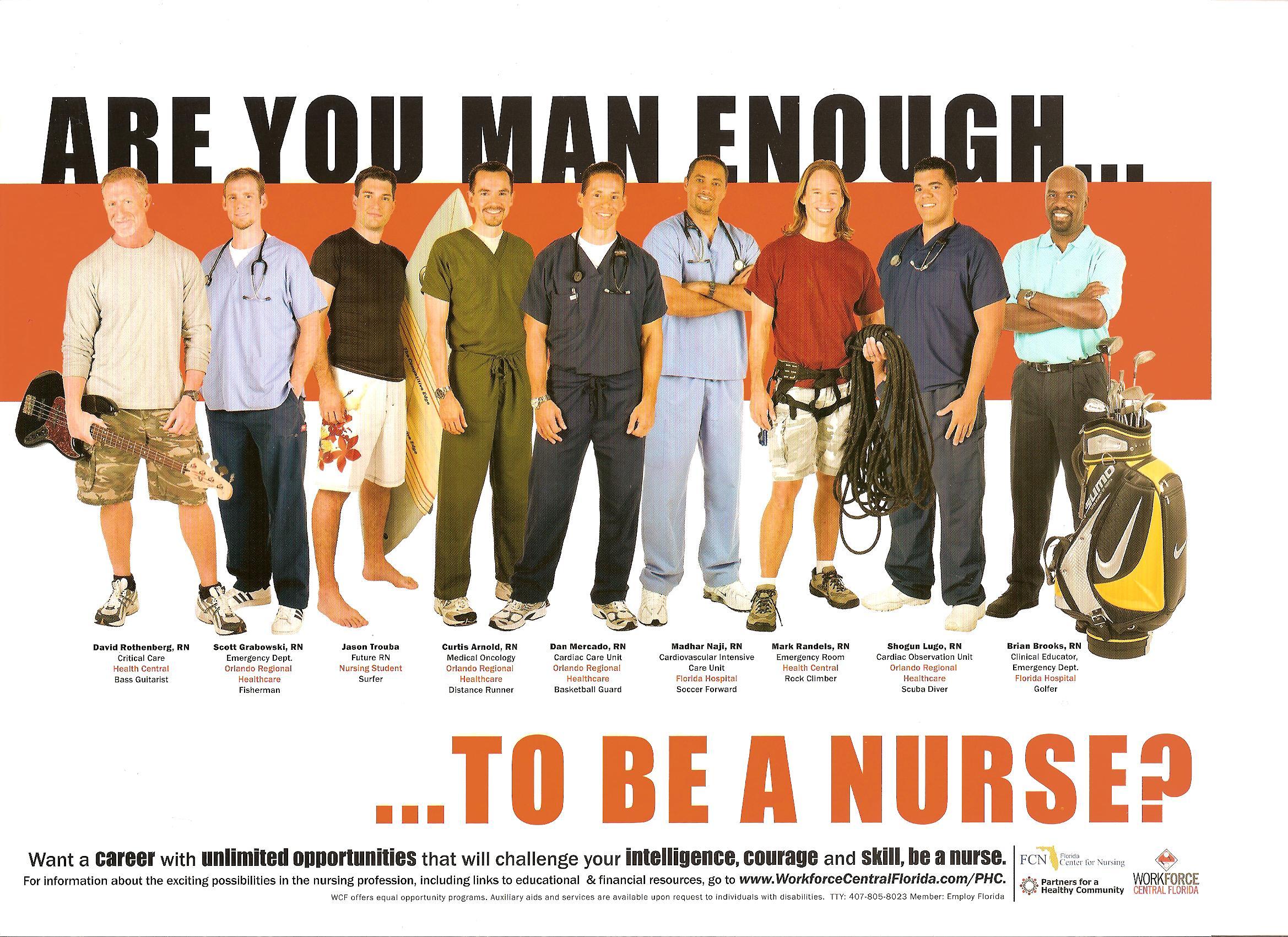"""Campagna USA: """"Sei abbastanza uomo… per fare l'infermiere?"""" 1"""