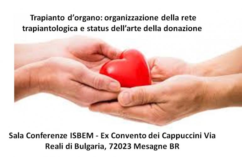 Corso E.C.M. Trapianto d'organo: organizzazione della rete trapiantologica e status dell'arte della donazione