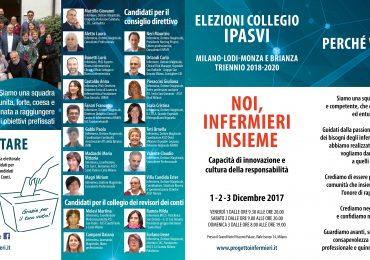 """Il collegio Ipasvi di Milano, Lodi, Monza e Brianza si rinnova con la lista """"Noi, infermieri Insieme"""""""