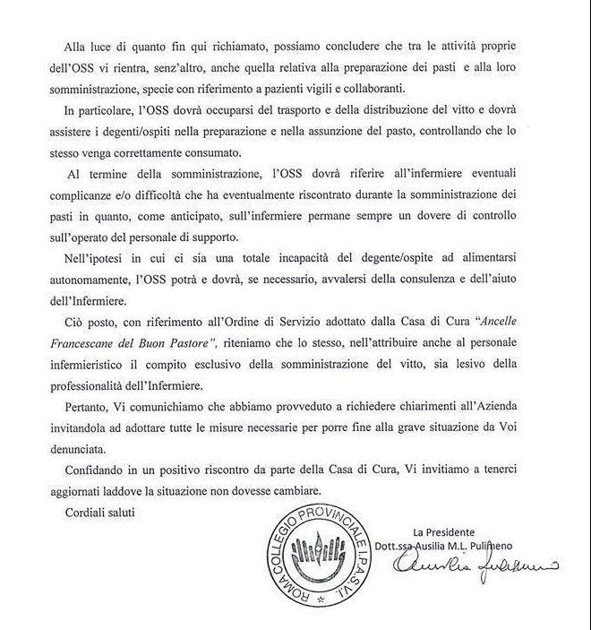 IL COLLEGIO PROVINCIA IPASVI DI ROMA SI SCHIERA CON GLI INFERMIERI CONTRO IL DEMANSIONAMENTO 5