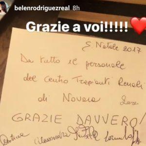 Le Infermiere novaresi ringraziano Belen Rodriguez sui Social