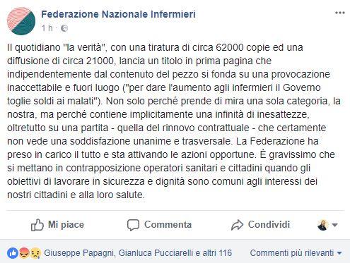 """""""Il governo toglie i soldi ai malati per dare l'aumento agli infermieri"""" 2"""