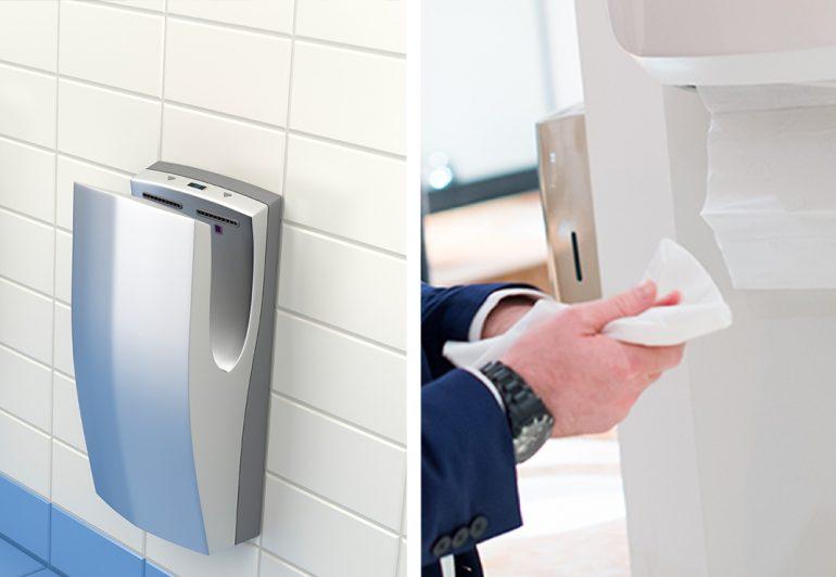 Gli asciugamani elettrici diffondono i batteri, meglio le salviette di carta: lo studio