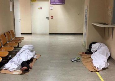 Ospedale di Saronno: corridoi invasi da clochard ogni notte@