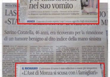 Il San Gerardo di Monza richiama per negligenza l'infermiere: la denuncia/diffida della Fials