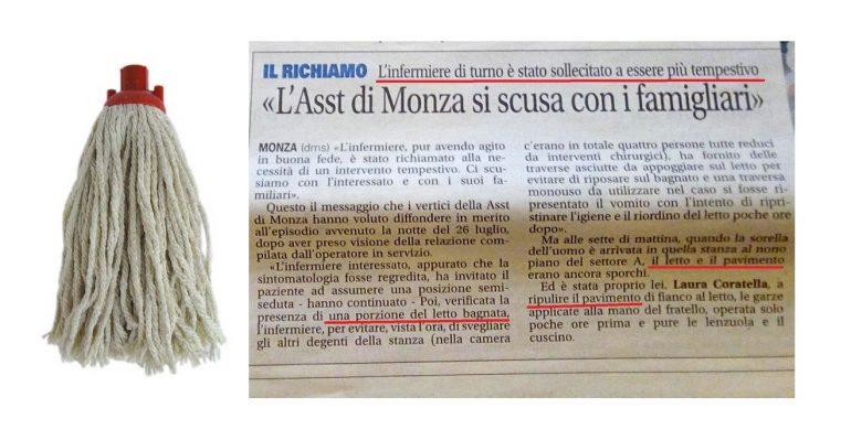 Monza, infermiere alla gogna: non ha pulito il vomito