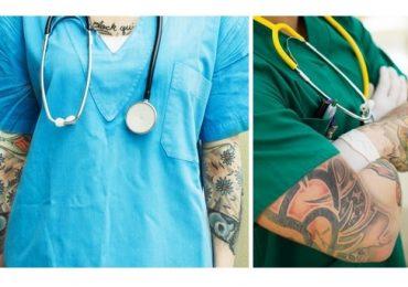 Tatuaggi e piercing? Se ce l'ha il medico per i pazienti non è un problema