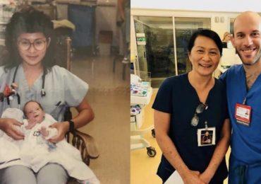 Infermiera salva la vita a bimbo prematuro, 28 anni dopo sono colleghi nello stesso reparto