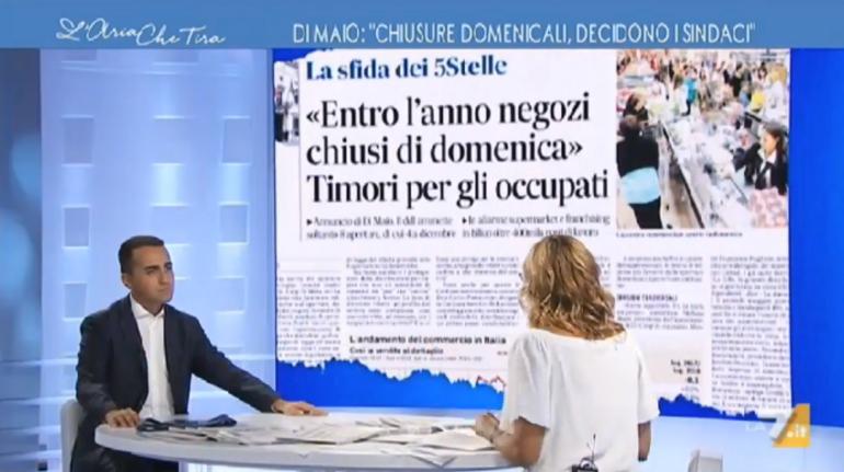 """Di Maio a La7 """"Gli Infermieri guadagnano fin troppo poco in questo paese"""""""