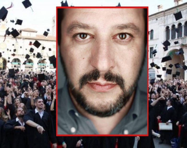 """Salvini: """"Aboliamo il valore legale delle lauree"""""""