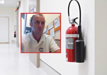 Incendio nel reparto di p