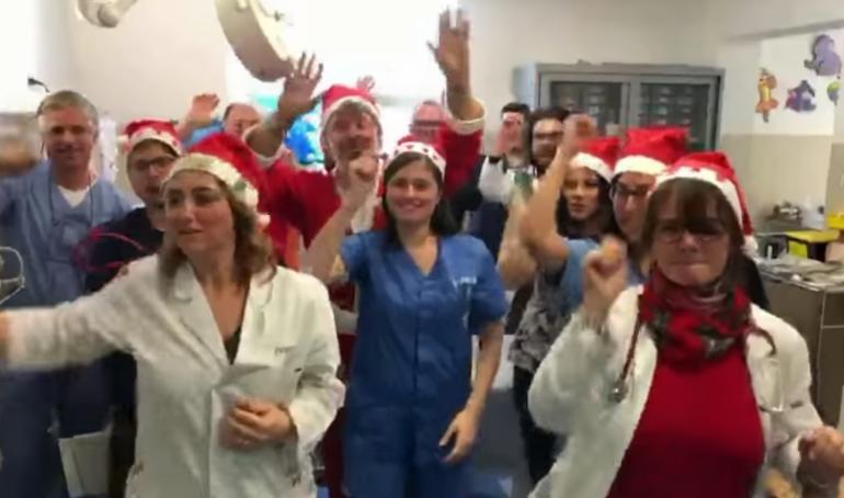 Gli auguri speciali dello staff del Pronto Soccorso dell'Ospedale dei Bambini di Palermo