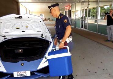 Trapianto d'organo in tempi di record grazie alla Lamborghini Huracán da 325 km/h della Polizia
