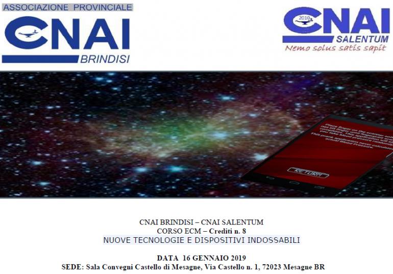 Evento formativo E.C.M. CNAI Brindisi e CNAI Salentum: NUOVE TECNOLOGIE E DISPOSITIVI INDOSSABILI