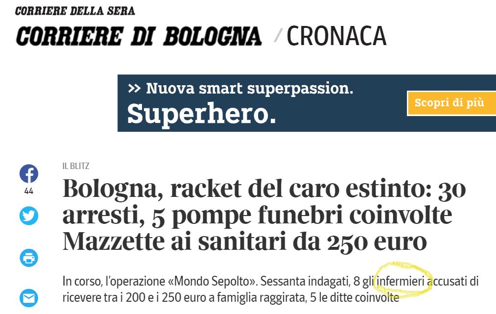 Racket del caro estinto a Bologna, sul libro paga anche infermieri: è davvero così? 2