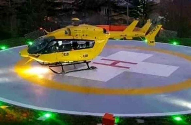 Serve un cesareo d'urgenza: dall'Appennino a Bologna in 18 minuti grazie all'elisoccorso notturno
