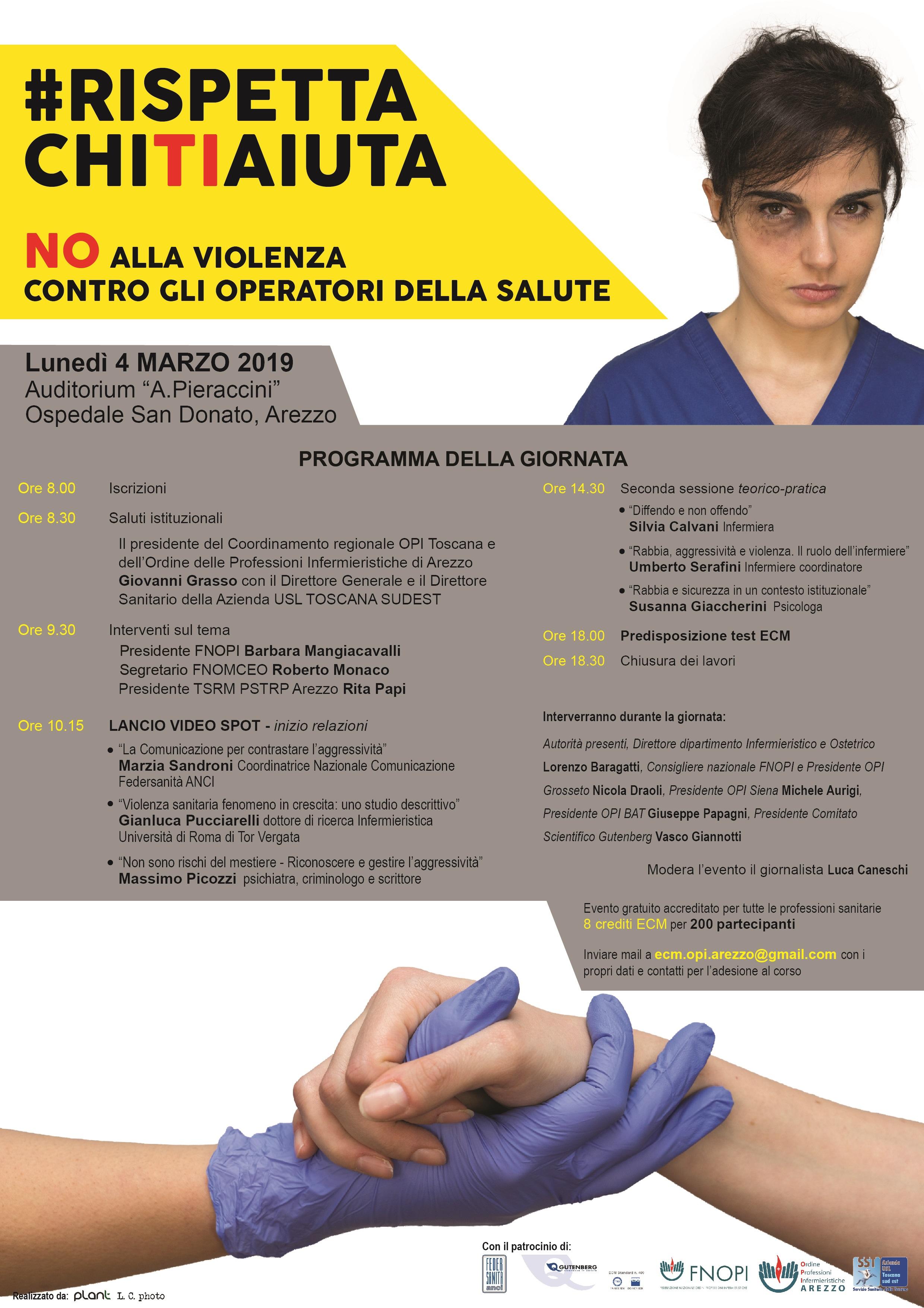 Grande successo per l'hashtag lanciata dagli infermieri di Arezzo #RispettaChiTiAiuta 2