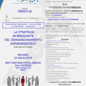 AADI: 2 corsi su responsabilità professionale, mobbing e demansionamento nel mese di aprile