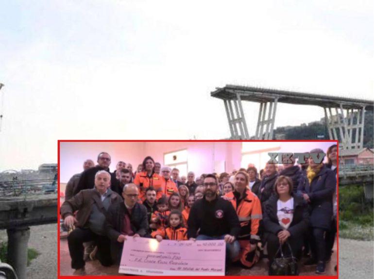 Genova: gli sfollati del ponte Morandi donano un'ambulanza a chi li ha soccorsi