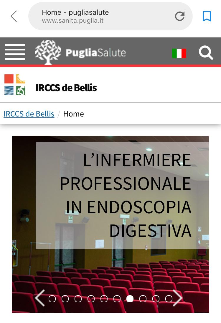 """L'IRCCS """"de Bellis"""" in Puglia, fermo all'anno '94 sul profilo degli Infermieri"""