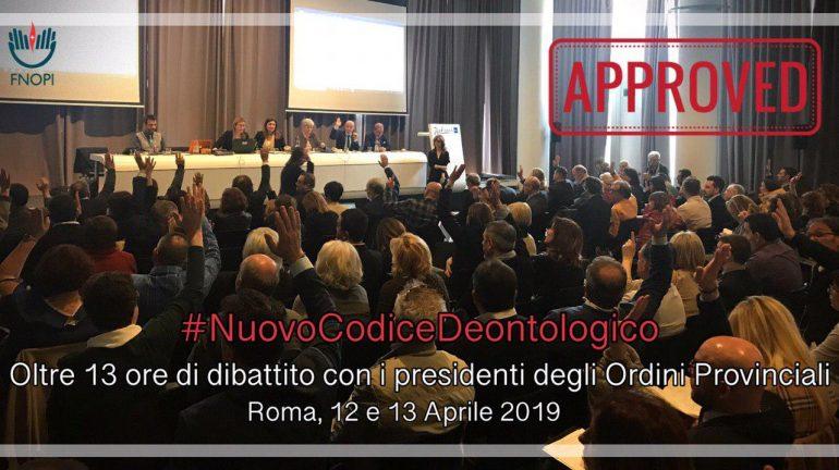 13 aprile: Il Consiglio Nazionale FNOPI approva il nuovo Codice Deontologico delle Professioni Infermieristiche