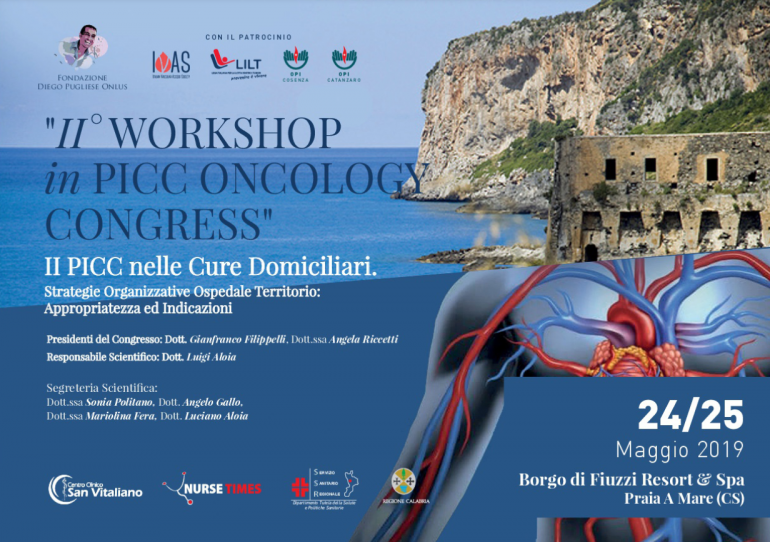 "Appuntamento in Calabria con il ""II° Workshop in Picc Oncology Congress"""