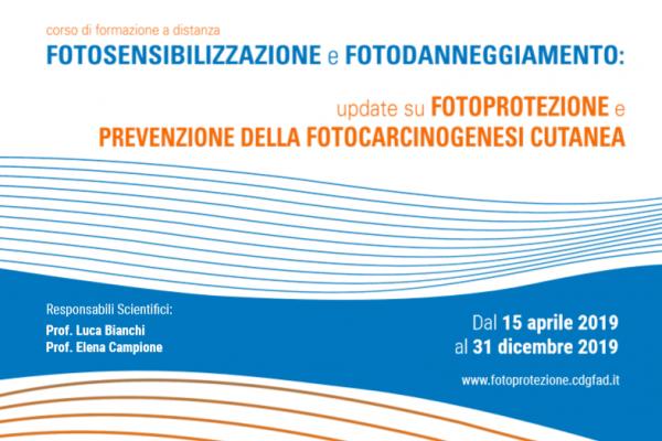 """Fad Ecm gratuito per infermieri """"Fotosensibilizzazione e fotodanneggiamento: update su fotoprotezione e prevenzione della fotocarcinogenesi cutanea"""""""
