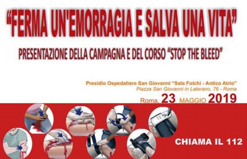 Stop the Bleed: campagna e formazione per la gestione delle emorragie
