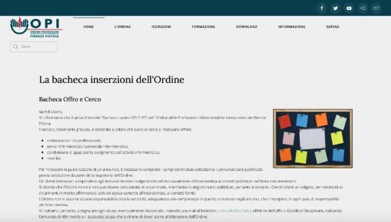 Arriva una bacheca con gli annunci di lavoro sul sito di Opi Firenze-Pistoia