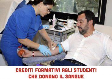 """Proposta Salvini:""""Crediti formativi per gli studenti che donano il sangue"""""""