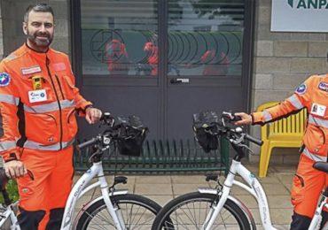 Soccorso extraospedaliero: arrivano le «ambulabici», dotate di defibrillatore e ossigeno a bordo