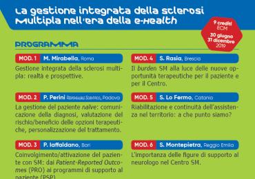 """Corso Fad Ecm gratuito """"La gestione integrata della sclerosi multipla nell'era della e-health"""""""