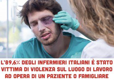 L'89,6% degli infermieri italiani è stato vittima di violenza sul luogo di lavoro ad opera di un paziente o famigliare