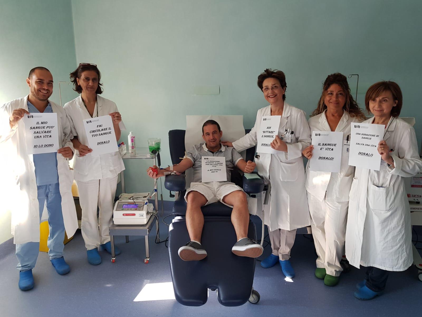 """Napoli: parte al """"Pascale"""" la campagna di sensibilizzazione per la donazione di sangue 1"""