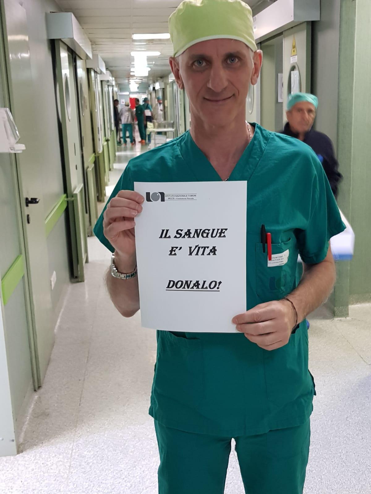 """Napoli: parte al """"Pascale"""" la campagna di sensibilizzazione per la donazione di sangue"""