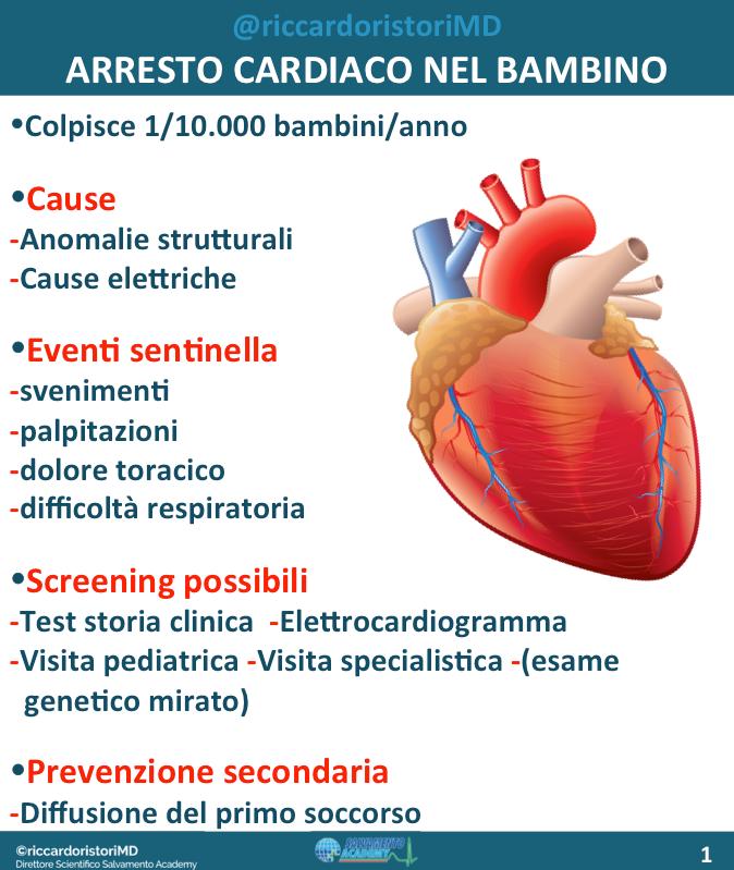 L'arresto cardiaco nel bambino