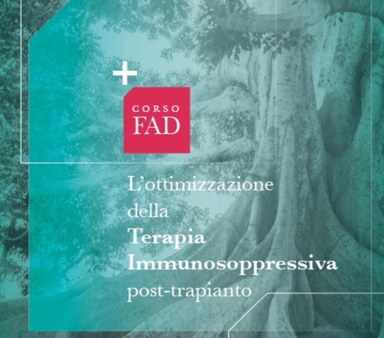 L'ottimizzazione della Terapia Immunosoppressiva post-trapianto. Fad Ecm gratuito per infermieri