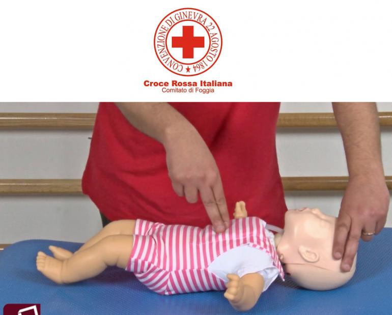 CRI Foggia, continua la formazione su manovre salvavita pediatriche