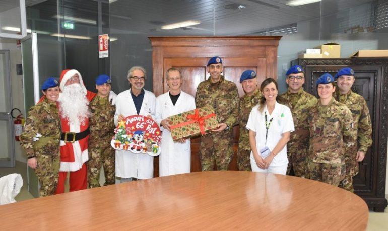 """Forlì, l'Esercito """"invade"""" il reparto di Pediatria del Morgagni-Pierantoni"""