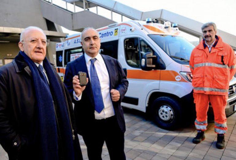 Napoli: debuttano le prime ambulanze del 118 dotate di videosorveglianza e pulsante antiaggressione