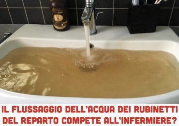 Bari: acqua marrone nelle camere di degenza. Sarà un infermiere a dover controllarli una volta a settimana?