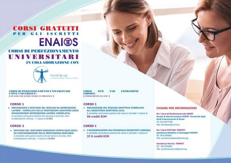 Coronavirus, ecco i corsi online gratuiti di Nursing Up.