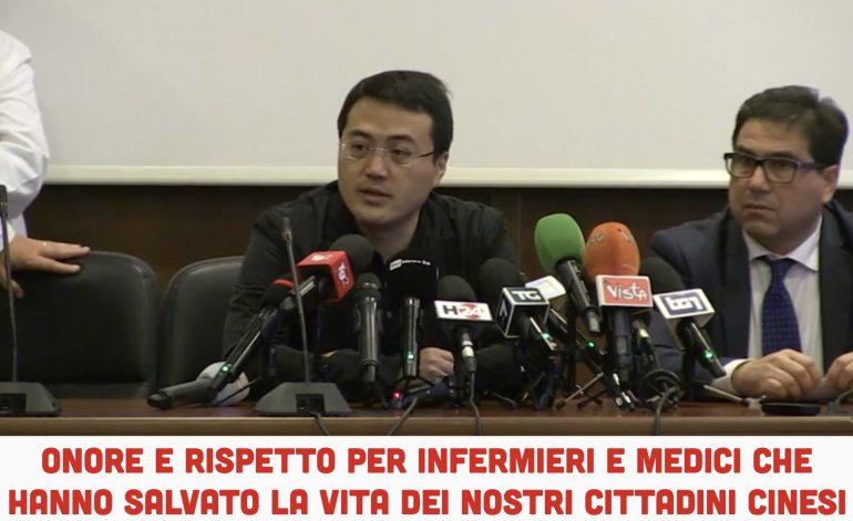 """Le autorità cinesi ringraziano lo Spallanzani:""""Massimo rispetto per medici e infermieri che hanno salvato i cittadini cinesi"""""""