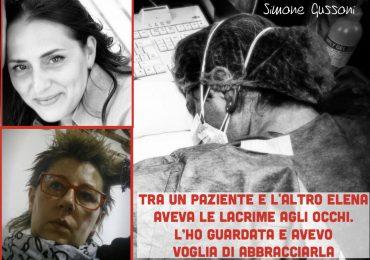 Stremata per gli infiniti turni nel reparto Coronavirus: ecco chi è l'infermiera Elena Pagliarini, protagonista della foto