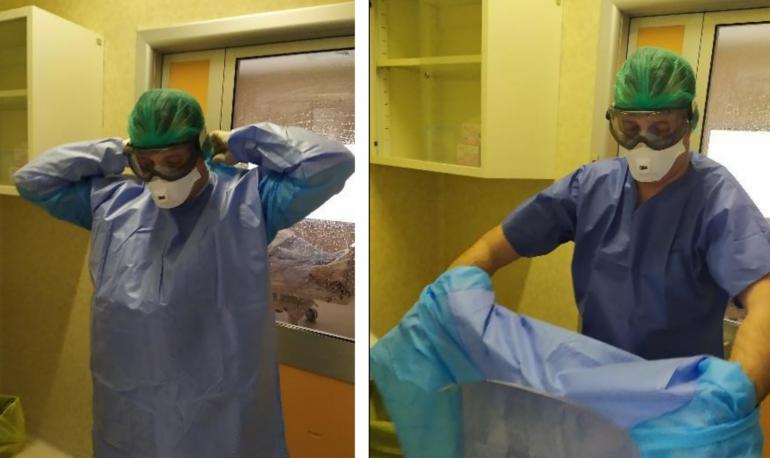 Coronavirus: Procedura di svestizione rimozione dei dispositivi di protezione individuali