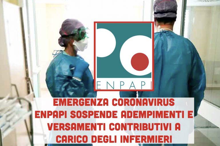 Energenza Coronavirus: ENPAPI sospende adempimenti e versamenti contributivi a carico degli infermieri